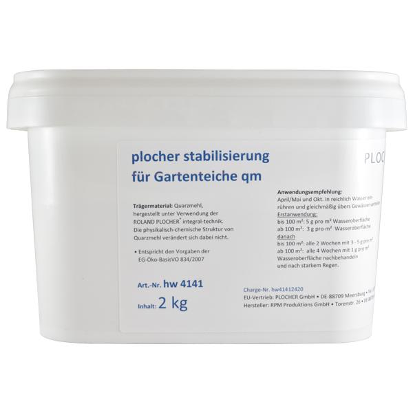 Plocher Stabilisierung fuer Gartenteiche qm 2kg