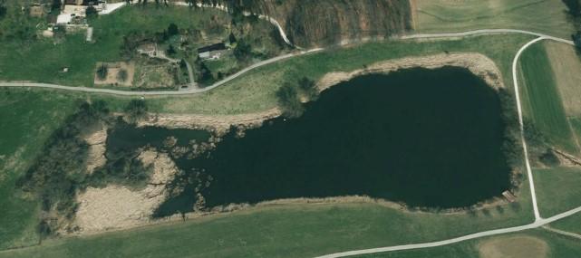 Luftaufnahme Bellacher Weiher 04.09.2011